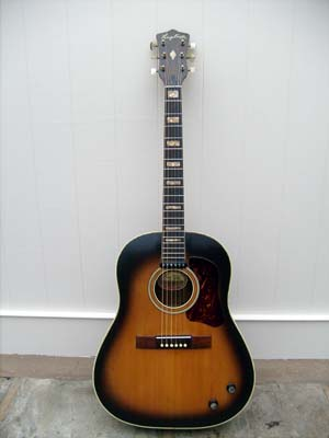 Fully restored guitar front